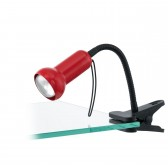 clip-lamp/1 flexible red/black 'FABIO'