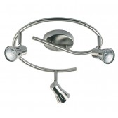 Spot Light Ceiling Light - Satin Chrome