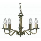 Nador Decorative Ceiling Light - 5 Light, Antique Brass