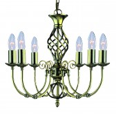 Zanzibar Ceiling Light - antique brass 6 light