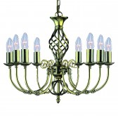 Zanzibar Ceiling Light - antique brass 8 light