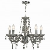 Marie Therese Smoked Grey Glass Chandelier - 5 Light
