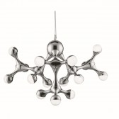 DNA LED Modern Ceiling Light - 15 Light, Polished Chrome