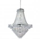 Versailles - 19 Light (Dia 1022Cm) Clear Crystal Chandelier, Chrome Frame