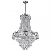 Versailles Chandelier - Chrome & Crystal