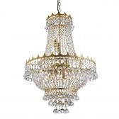 Versailles Chandelier - Gold & Crystal