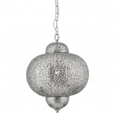 Moroccan Single Pendant Light - Shiny Nickel