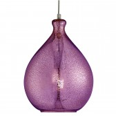 Mercury 1 Light Glass Pendant Purple
