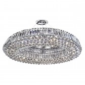 Vesuvius Ring Crystal Glass DIA 82CM Pendant Light - 10 Light, Chrome