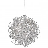 Scribble Diamond Cut Pendant Light - 6 Light, Chrome