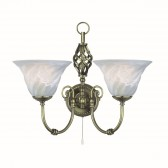 Cameroon Wall Light - antique 2 light