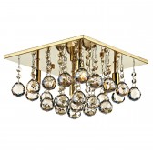 Abacus Flush Ceiling Light - Gold