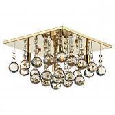 Abacus Flush Ceiling Light - Gold
