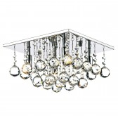 Abacus Flush Ceiling Light - Polished Chrome