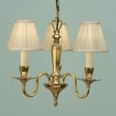 Interiors1900 Asquith Solid Brass 3-Light Chandelier, Beige
