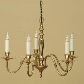 Interiors1900 Asquith Solid Brass 5-Light Chandelier
