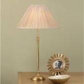 Interiors1900 Fitzroy Brass Table Lamp With Oyster Silk