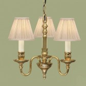 Interiors1900 Fitzroy Solid Brass 3-Light Chandelier, Beige