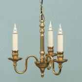Interiors1900 Fitzroy Solid Brass 3-Light Chandelier