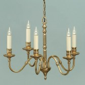 Interiors1900 Fitzroy Solid Brass 5-Light Chandelier