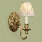 Interiors1900 Fitzroy Solid Brass Wall Light, Beige Shade