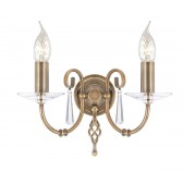 Elstead AG2 AGED BRASS Aegean 2 - Light Wall Light Aged Brass