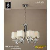 Akira Pendant 8 Light Polished Chrome With Cream Shade