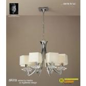 Akira Pendant 8 Light Polished Chrome With Cream Shade