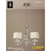 Akira Pendant 3 Light Polished Chrome With Cream Shade