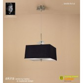 Akira Pendant 4 Light Antique Brass With Black Shade