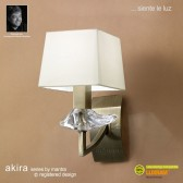 Akira Wall 1 Light Antique Brass With Cream Shade