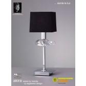 Akira Table 1 Light Polished Chrome With Black Shade