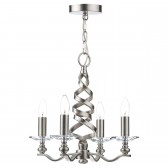 Alassio 4 Light Pendant Satin Chrome