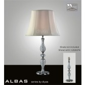 Diyas Albas Table Lamp 1 Light Polished Chrome/Crystal