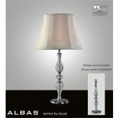 Diyas Albas Table Lamp 1 Light Polished Chrome/Crystal