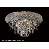 Diyas Alexandra Wall Lamp 1 Light Chrome/Crystal