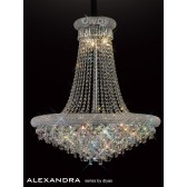 Diyas Alexandra Pendant 18 Light Chrome/Crystal