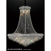 Diyas Alexandra Pendant 20 Light Chrome/Crystal