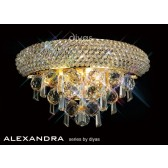 Diyas Alexandra Small Wall Lamp 1 Light French Gold/Crystal