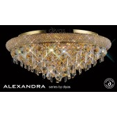 Diyas Alexandra Ceiling 9 Light French Gold/Crystal