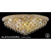 Diyas Alexandra Ceiling 16 Light French Gold/Crystal
