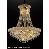 Diyas Alexandra Pendant 13 Light French Gold/Crystal