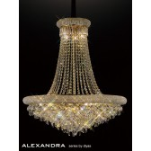 Diyas Alexandra Pendant 20 Light French Gold/Crystal