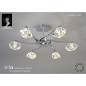 Alfa Semi Ceiling 6 Light Polished Chrome