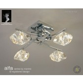 Alfa Ceiling 4 Light Polished Chrome