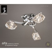 Alfa Ceiling 3 Light Polished Chrome