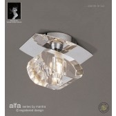 Alfa Ceiling 1 Light Polished Chrome