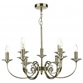 Allegra 9 Light Ceiling Light - Antique Brass