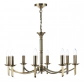 Dar Ambassador 8-Light Pendant Antique Brass