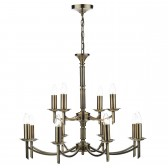 Dar Ambassador 12-Light Pendant Antique Brass